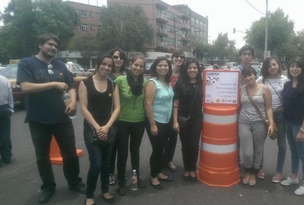 Apoyamos a ITDP México en la intervención urbana para tener más espacio para los peatones en las calles.